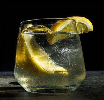 Corn Star lemon cocktail drink recipe made with MOONDANCE Whiskey clear corn spirit